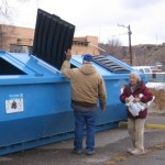 Rec Center Recycling Bins
